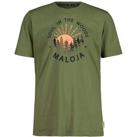 Maloja HeckenkirscheM. T-shirt Herrer, oliven